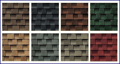 There is a wide selection of architectural shingles available