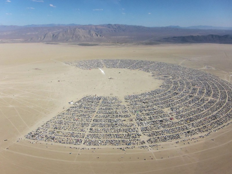 Burning Man 2011 aerial view