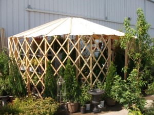 Simplified yurt structure