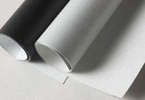 Some blackout fabrics use layers of fiberglass and PVC but are less flexible
