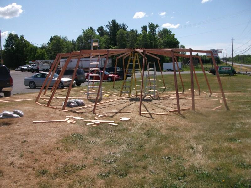 25-foot yurt assembly