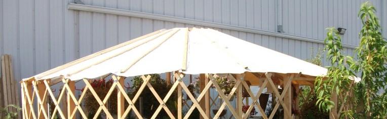 Garden center yurt cover