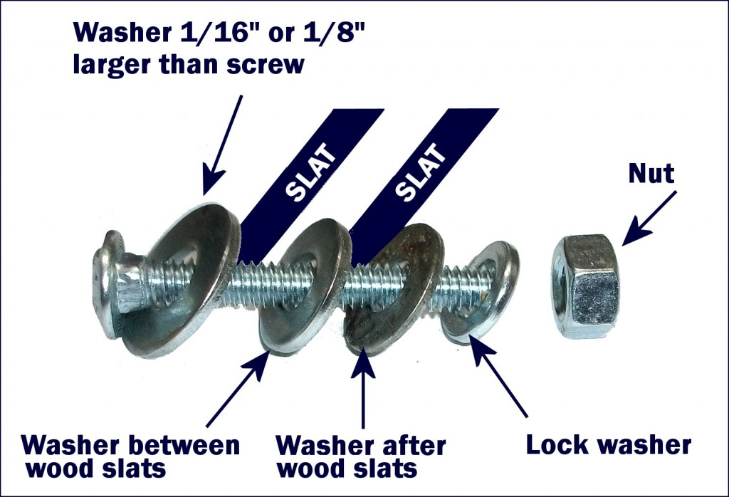 yurt lattice screw components
