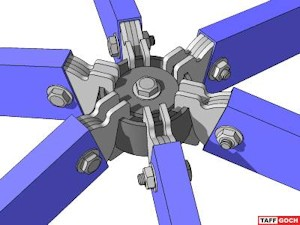 To download a SketchUp model of this hub, click on the image