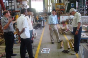 testing the bamboo at NTU engineering lab....with prof li bing....