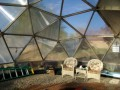 Assembly of a geodesic dome greenhouse