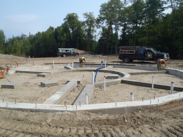 Geodesic Dome foundation in Vermont